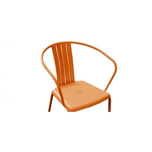 Fauteuil de jardin azuro orange lot de 2 achetez les for Chaise bas prix
