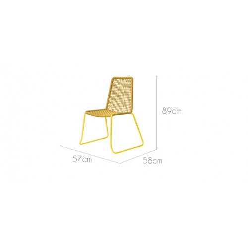 chaise erode jaune lot de 2 achetez nos chaises erode jaunes lot de 2 rdv d co. Black Bedroom Furniture Sets. Home Design Ideas