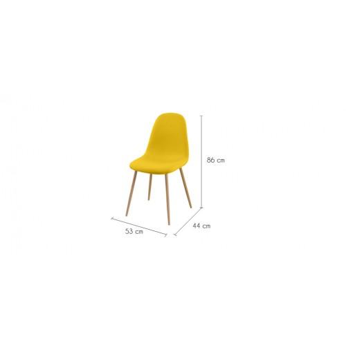 chaise jaune tissu pas cher