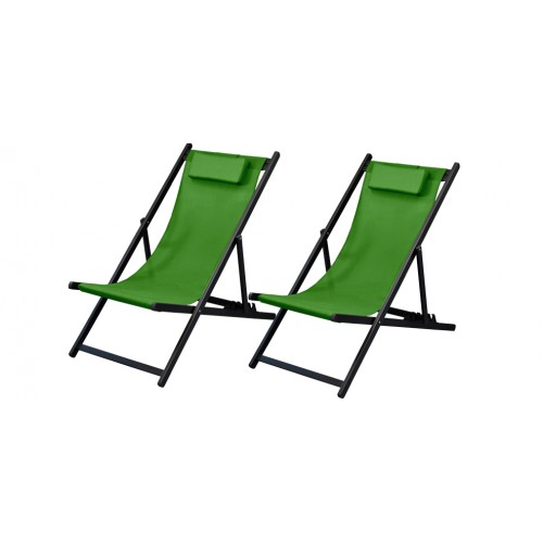 chaise longue calvi vert amande lot de 2 achetez nos chaises longues calvi vertes lot de 2. Black Bedroom Furniture Sets. Home Design Ideas