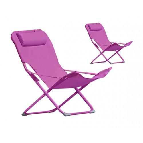 chaise longue talanga rose lot de 2