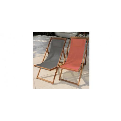 Chaise longue en bois orange essayez nos chaises longues - Tissu pour chaise longue ...