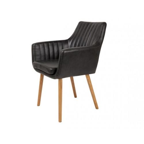 chaise pike noire