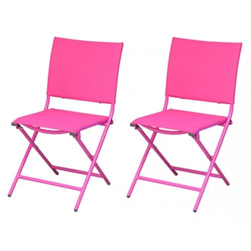 chaise pliante bali rose