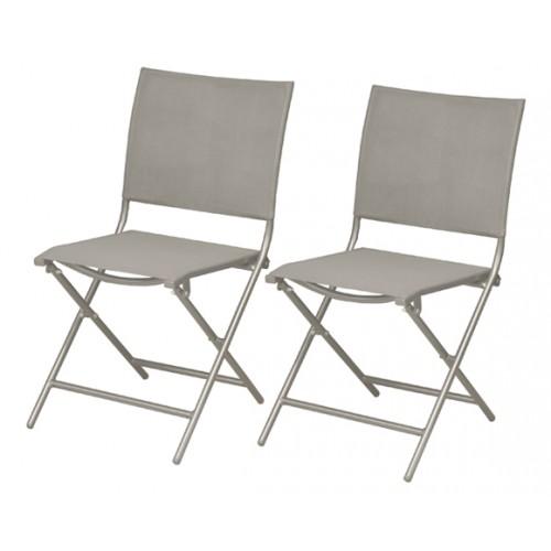 chaise pliante bali taupe