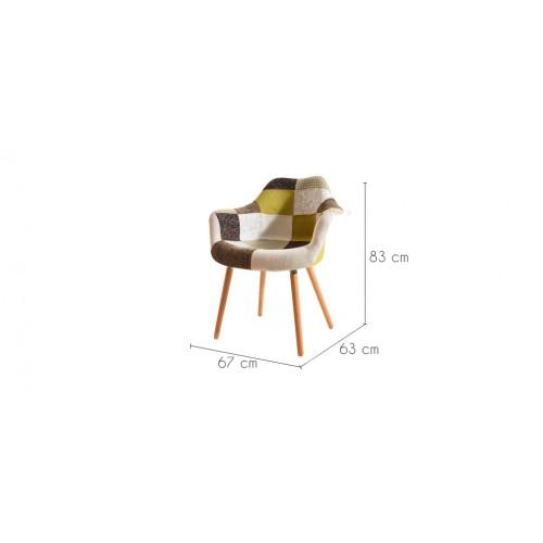 chaise anssen patchwork jaune achetez nos chaises anssen. Black Bedroom Furniture Sets. Home Design Ideas