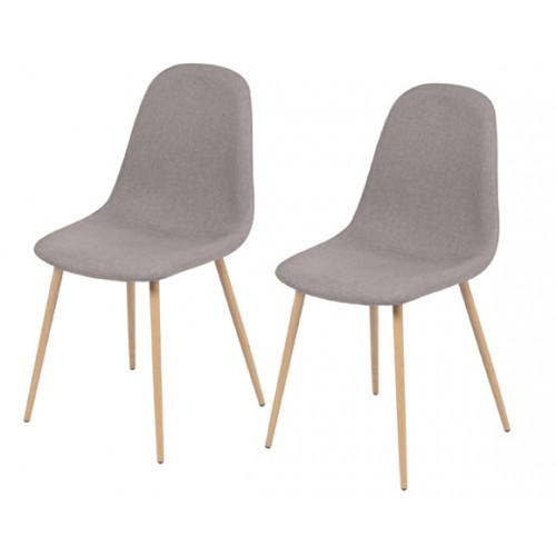 chaise taupe lot de 2