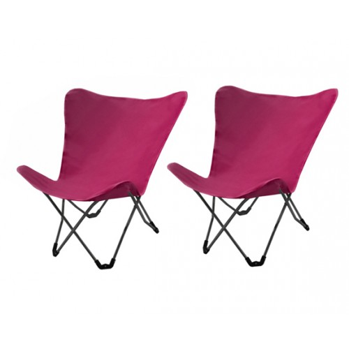 chaise vitoria rose lot de 2