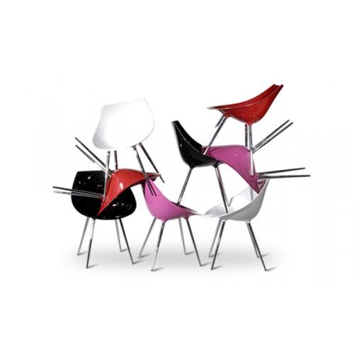 Chaise rose 60's (lot de 2) 07