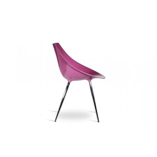 Chaise rose 60's (lot de 2) 03