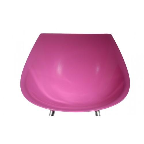 Chaise rose 60's (lot de 2) 06