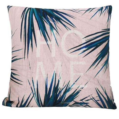 coussin carre imprime feuilles home