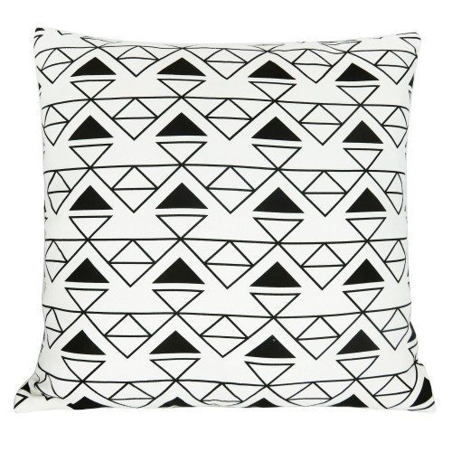 Coussin motifs triangles