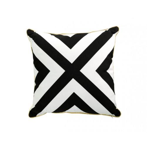 coussin decoratif croix noir blanc