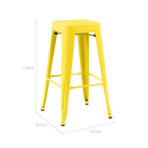 tabouret de bar indus jaune lot de 2 d couvrez les. Black Bedroom Furniture Sets. Home Design Ideas