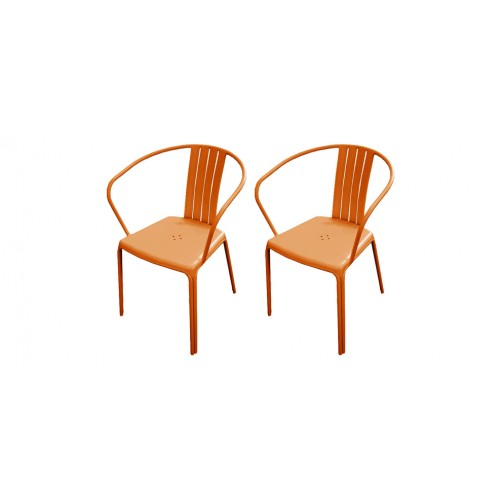 Fauteuil de jardin Azuro orange (lot de 2) : achetez les fauteuils ...