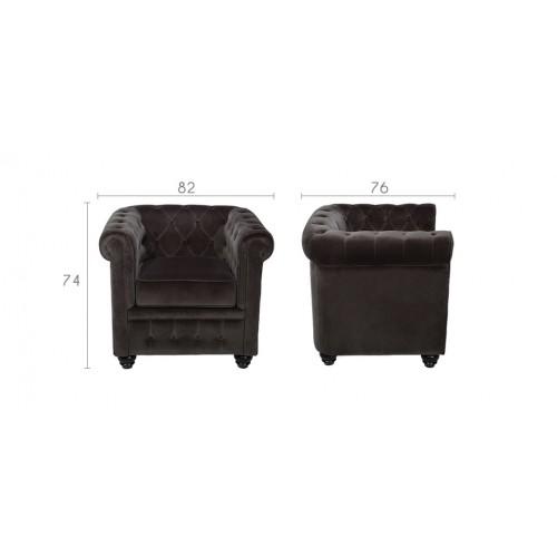 fauteuil chesterfield optez pour le fauteuil en velours rdv d co. Black Bedroom Furniture Sets. Home Design Ideas