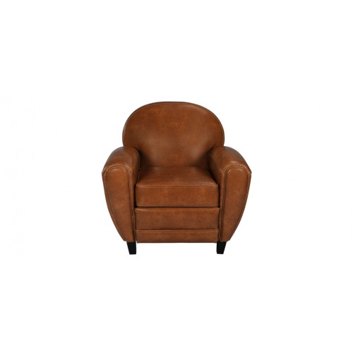 fauteuil club marron camel