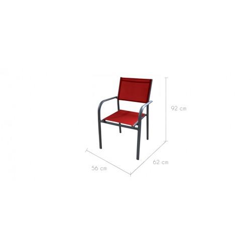 fauteuil de jardin rouge pas cher