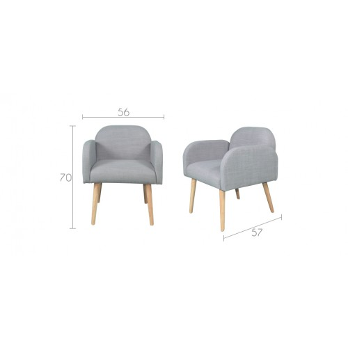 fauteuil g teborg gris clair commandez nos fauteuils. Black Bedroom Furniture Sets. Home Design Ideas