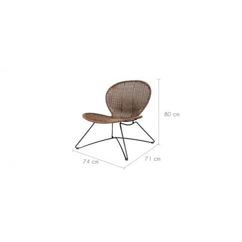 fauteuil mandya en r sine tress e achetez nos fauteuils. Black Bedroom Furniture Sets. Home Design Ideas