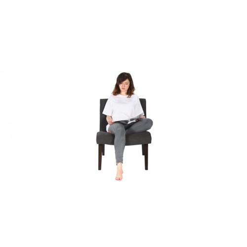 fauteuil gris capitonne pied bois prix usine