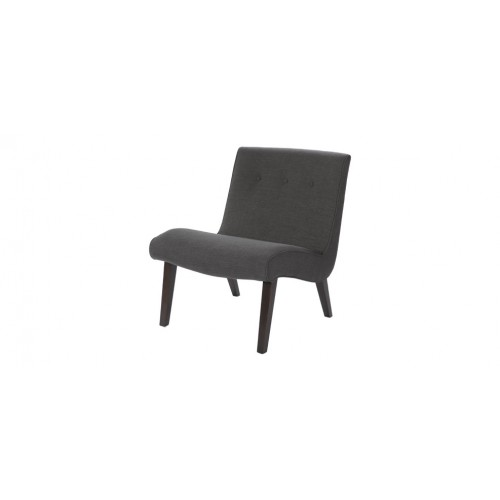 fauteuil gris pied bois pas cher