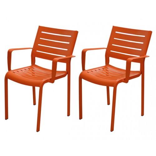 fauteuil isla orange lot deux