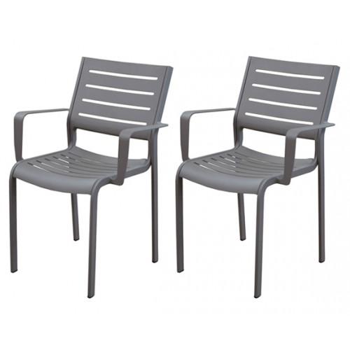 fauteuil isla taupe prix bas