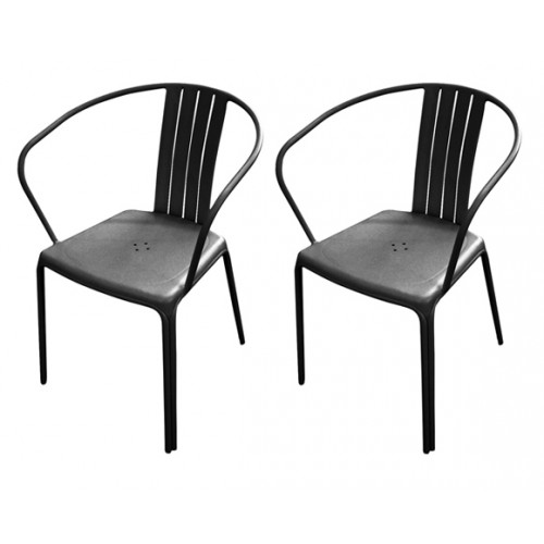 fauteuil jardin azuro noir