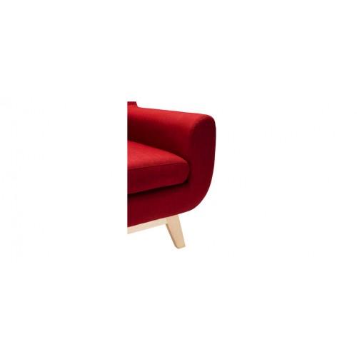 fauteuil salon tissu rouge