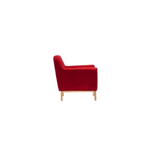 fauteuil tissu rouge pas cher