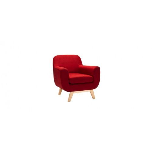 fauteuil tissu rouge petit prix