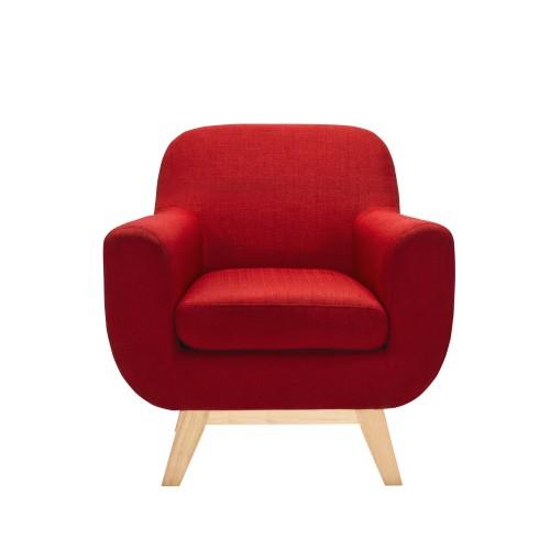 fauteuil tissu rouge prix usine