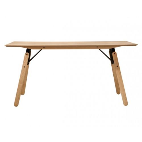 Table rectangulaire Skaidi bois 160 cm