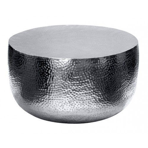 Table basse métal Fulki chrome 86 cm