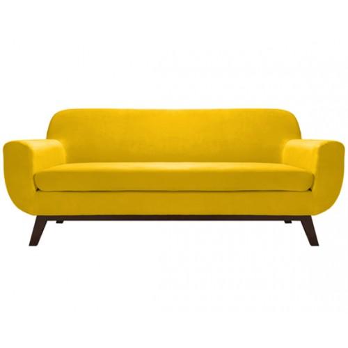 Canapé Copenhague 3 places en velours jaune