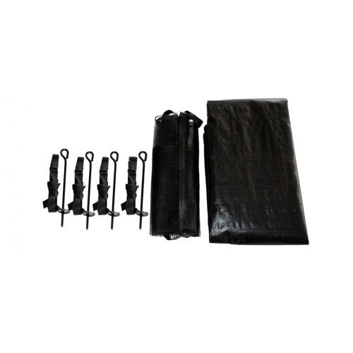 KIT complet (kit d'ancrage + filet à chaussures + bâche) pour trampoline 427 cm