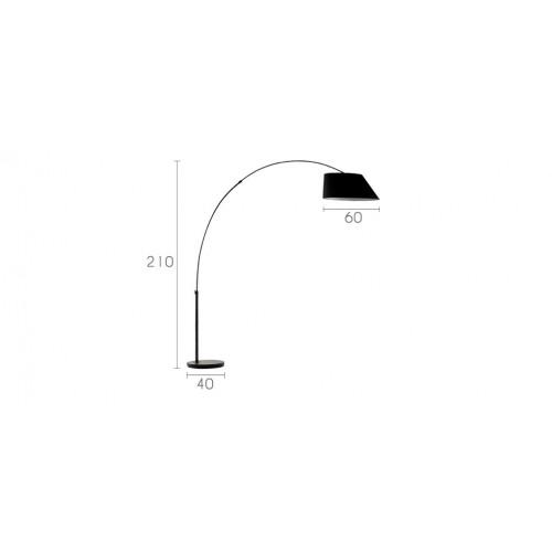 lampadaire curve noir achetez nos lampadaires curve noirs design rdvd co. Black Bedroom Furniture Sets. Home Design Ideas