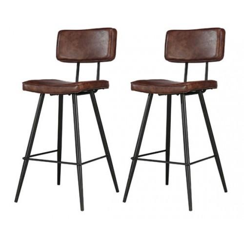 Chaise de bar Texas marron (lot de 2)