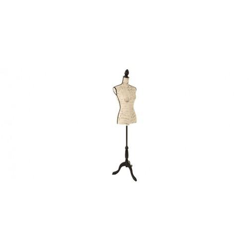 mannequin couture beige lettre