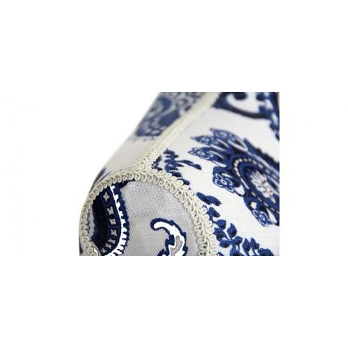 mannequin couture tissu blanc bleu