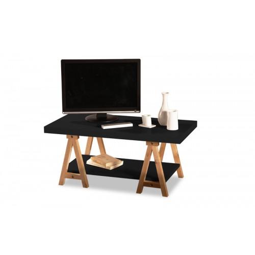 Table basse noire design acheter cette table basse - Table basse laquee noire ...