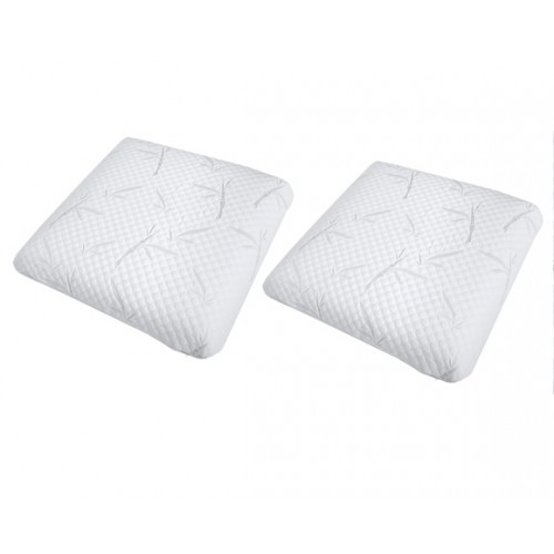 oreiller memoire de forme 60 x 60 lot de 2