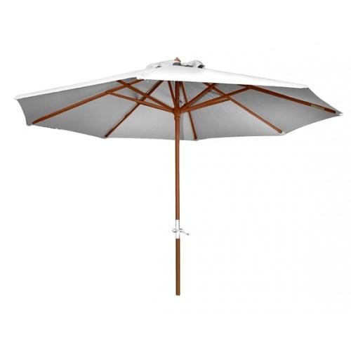 Parasol droit en bois Biarritz écru