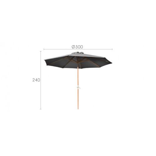 parasol gris optez pour nos parasols gris pas chers. Black Bedroom Furniture Sets. Home Design Ideas