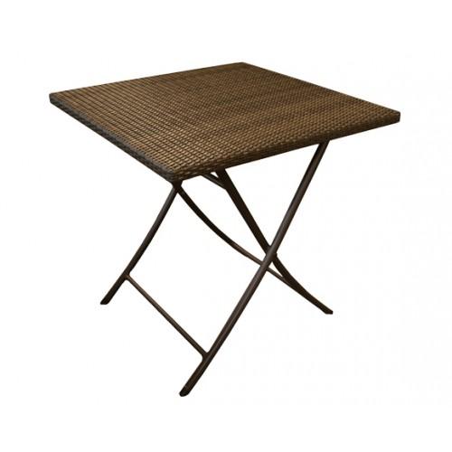 petite table carre marron pour le jardin