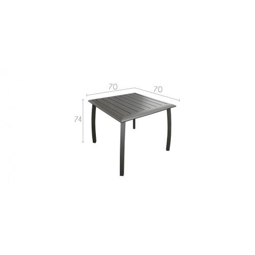 table de jardin carr e 70 cm livourne grise achetez nos tables de jardin carr es 70 cm. Black Bedroom Furniture Sets. Home Design Ideas
