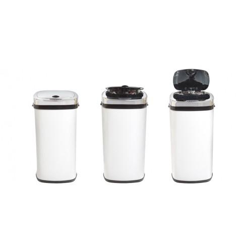 poubelle automatique blanche