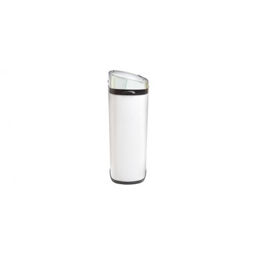 poubelle carrée blanche